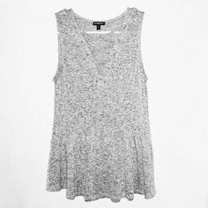 Express Top Size Small Petite Gray Heather